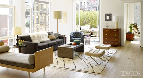 Lisa Pomerantz', head of PR for Michael Kors, chic Manhattan Home from Elle Decor